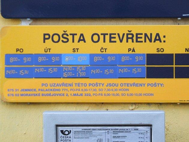 I v Kramolíně budou bez pošty.