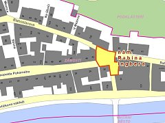 Mapy s novými třebíčskými ulicemi.