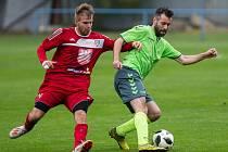 V novém ročníku krajského přeboru se budou muset fotbalisté Náměšti-Vícenic (v zelených dresech) obejít bez několika opor.