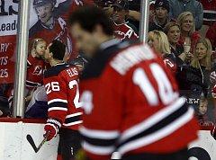 Emotivní loučení s kariérou prožil hokejový útočník a třebíčský rodák Patrik Eliáš před sobotním závěrečným domácím utkáním New Jersey s New York Islanders.