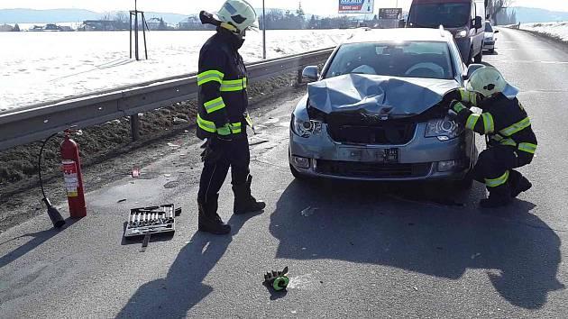 Nehoda ve  Znojemské ulici v Třebíči.
