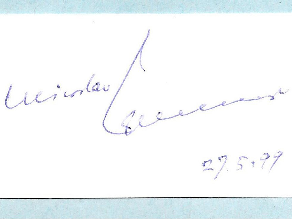Podpis Miroslava Zikmunda