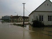 Povodně v roce 2002 na Třebíčsku.