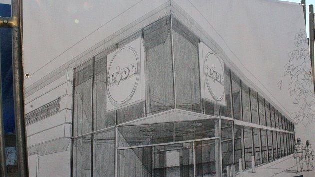 Stavební práce na novém Lidlu v Třebíči