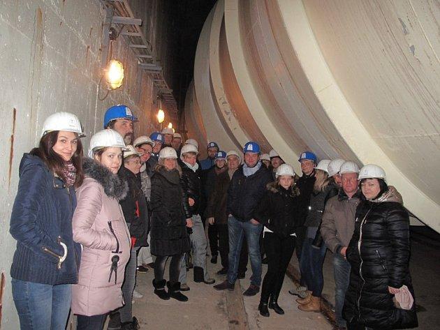 Exkurze v přečerpávací dalešické vodní elektrárně.
