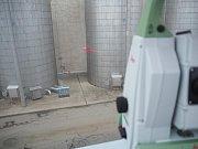 Měření s laserovým paprskem.