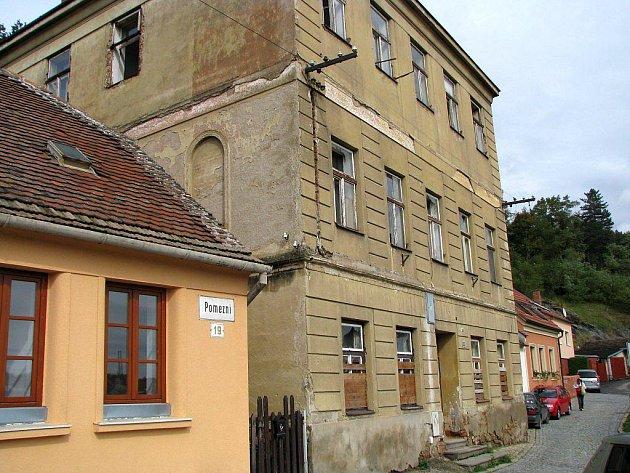 Bývalý židovský špitál v třebíčské židovské čtvrti.