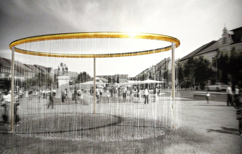 Tak bude vypadat nová kašna na revitalizovaném náměstí v Třebíči.