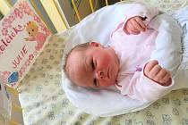 V třebíčské porodnici se narodilo pětisté miminko roku. Julie Slabá.