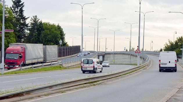 Silnice 1/23 v Třebíči.