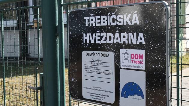 Třebíčská hvězdárna v ulici Švabinského.