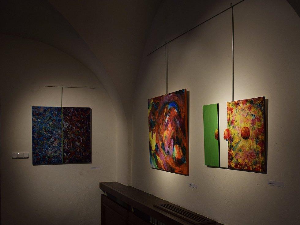 Výstava Zdeňka Šplíchala v Malovaném domě.