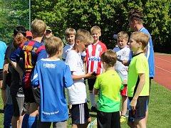 Fotbalová škola Třebíč ve spolupráci s FAČR, Jihočeskou fotbalovou akademií a spolkem Žijeme hrou vytvořili projekt pod názvem Žijeme hrou za Barákem.