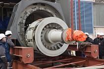 Výměna statoru a rotoru generátoru.
