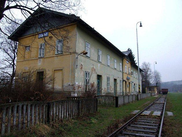 Stařečské nádraží.