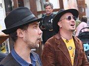 Židovské město v Třebíči oživili pouliční muzikanti.