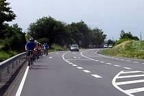 Cyklojízda na podporu vybudování cyklostezky Třebíč-Dukovany.
