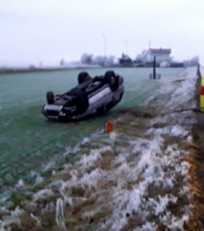 Nehoda u Třebelovic.