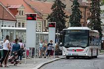 Zastávky na Karlově náměstí v Třebíči.