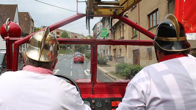 Třebíčská hasičská jízda T. G. Masaryka.