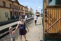 Parní vlak jel v sobotu do Jemnice.