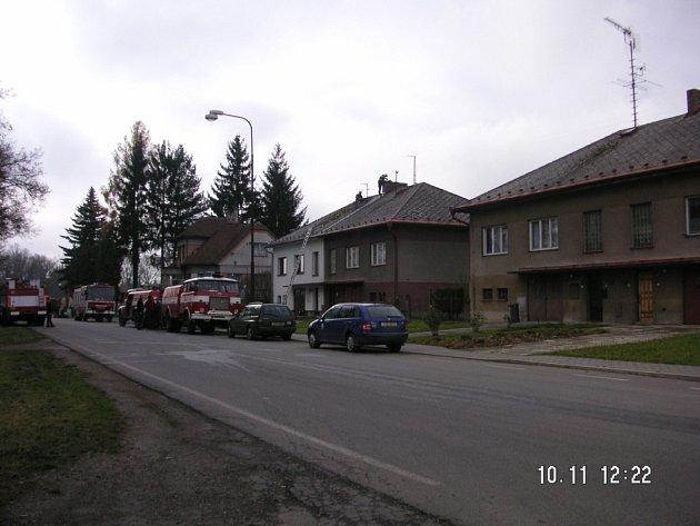 Požár bytového domu v Žirovnici.