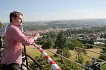 Vyhlídka z vrcholu vodojemu nabízí půvabné pohledy na Třebíč.