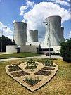 Bylinková zahrada v Jaderné elektrárně Dukovany.