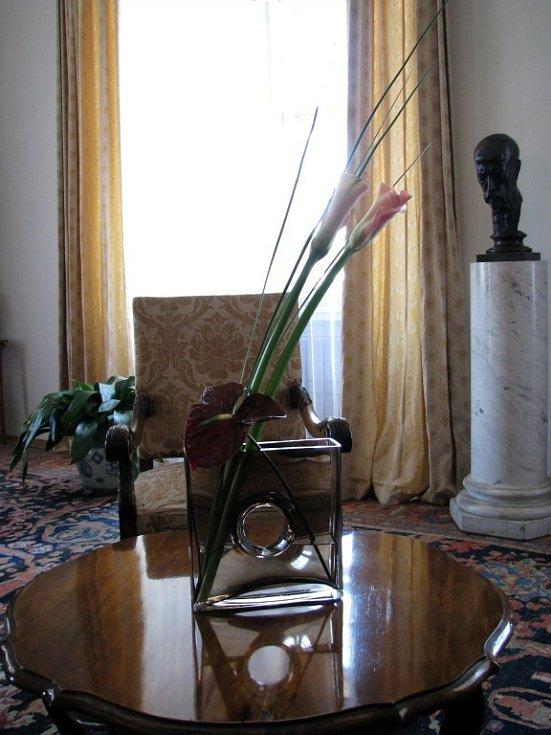Květinová expozice.