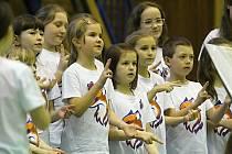 Akce Zpíváme pro Unicef v Třebíči.