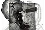 Paul Ewert: Africká krajina č. 2, akryl a tužka na plátně, 2107.