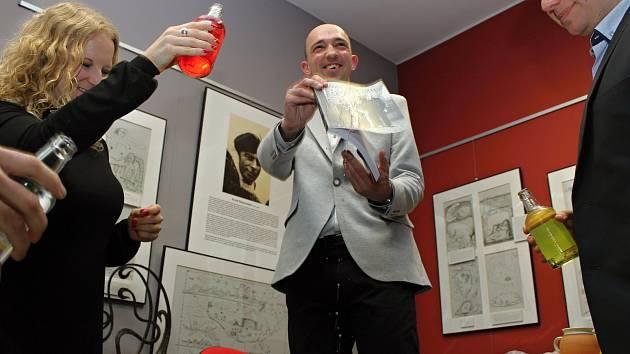 Křest knihy Milana Krčmáře v Městské knihovně v Třebíči.
