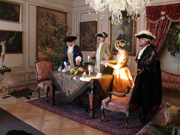 Vánoce na zámku jsou tradiční akcí v Jaroměřicích nad Rokytnou.