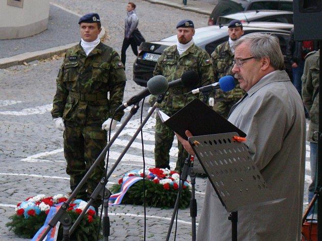 Starosta Třebíče Pavel Janata přednesl ke státnímu svátku projev.