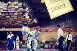 Vojtěch Fiala na mistrovství světa v bojovém umění taekwondo ITF v bulharském Plovdivu.