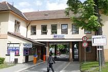 Bývalý, dnes již neexistující, vchod do třebíčské Nemocnice.