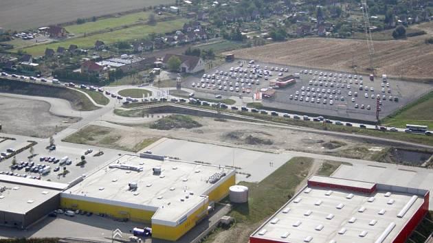 Tento snímek pořídil nad městem v úterním odpoledni třebíčský pilot Ondřej Šilhan.