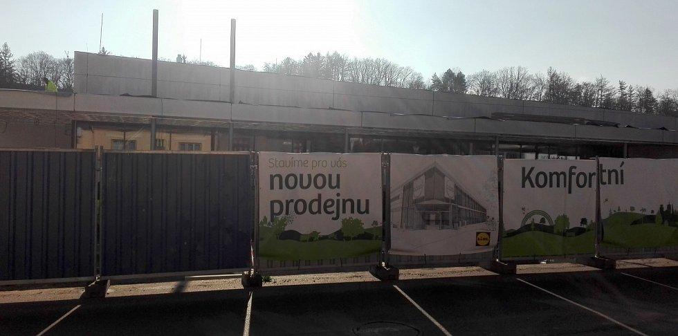 Stavba nového marketu společnosti Lidl v Brněnské ulici v Třebíči.
