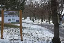 Lesopark Na Hrádku v centru Třebíče.
