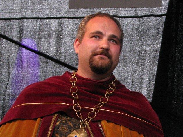 Michal Lukáč jako Jan Lucemburský na Slavnostech tří kápí.