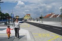 Přestupní terminál v Třebíči.