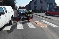 Nehoda v ulici Budějovická v Jemnici.