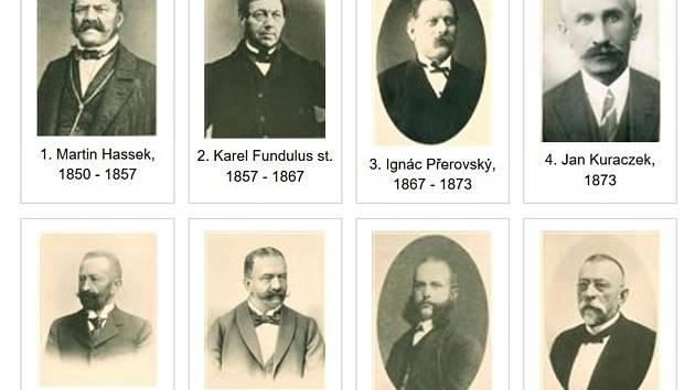 Na třebíčské radnici mají galerii starostů a představitelů města