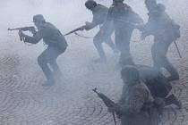V Náměšti nad Oslavou na Masarykově náměstí se konala rekonstrukce boje osvobozování města.