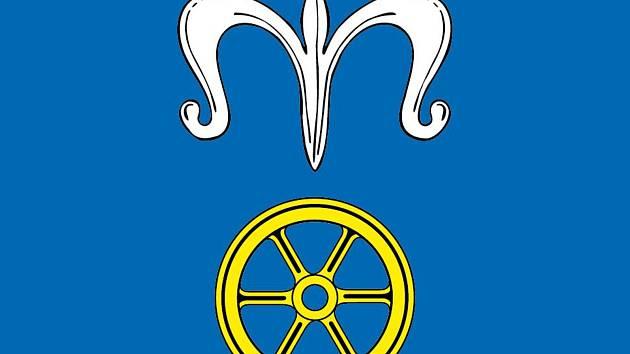 Vlajka Okříšek. Foto: Městys Okříšky