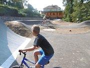 Pumptrack v Jemnici se nachází poblíž autobusového nádraží. Foto: Archiv MěÚ Jemnice