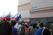 Demonstrace v Třebíči.