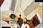 Paul Ewert: Ve vztahu k poslechu Hrubínovských variací od Otomara Kvěcha aneb To vypadá česky, že? aneb Pražská rodina na dovolené u Baltského moře, léto 1914, akryl a písek na plátně, 2009.