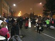 Průvod krampus čertů v Moravských Budějovicích.