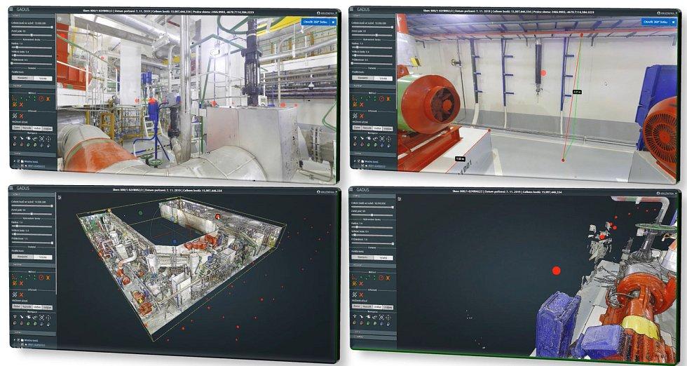 Díky 3D skenování mají zaměstnanci i dodavatelé detailní a reálný náhled do prostor většinou běžně nepřístupné technologie.